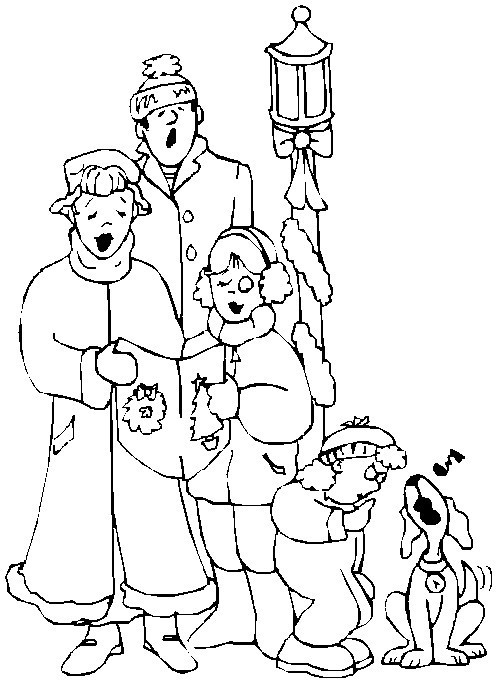 a christmas carol coloring pages - photo#14