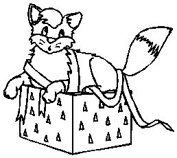 Printable christmas coloring page cat in a gift box cat in a gift box coloring index negle Choice Image