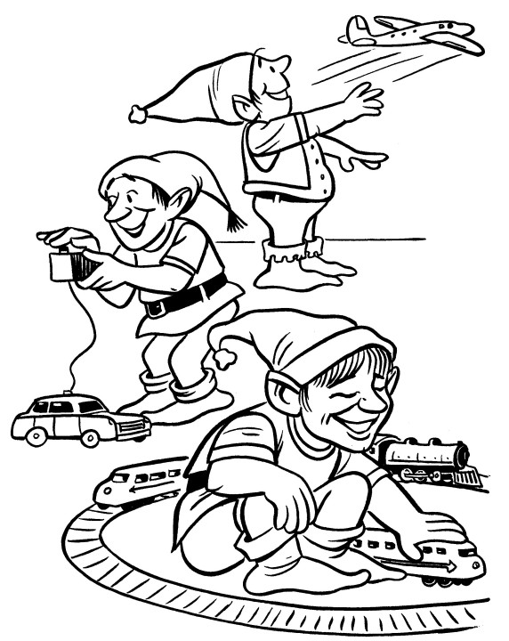 elves in workshop coloring index