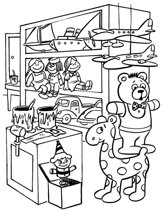 office santas workshop coloring pages - photo #4