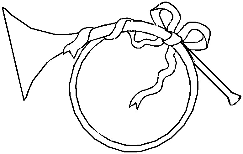 french horn coloring pages - photo#15